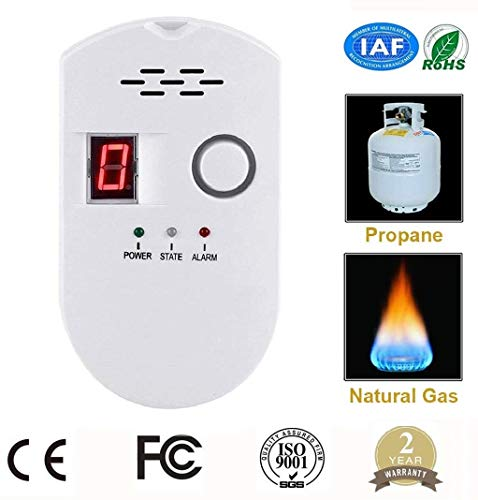 zorvo Plug-in Digital Gas Detector High Sensitivity LPG Natural Gas Leak Detector Detection Alarm