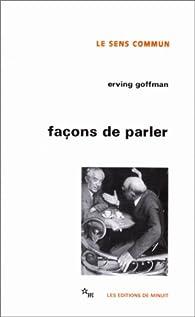 Façons de parler par Erving Goffman