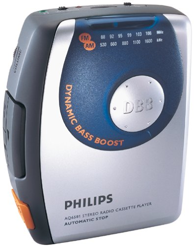 amazon com philips aq6581 stereo radio cassette player silver rh amazon com Cassette Players at Walmart Boomboxes with CD Radio Cassette Recorder