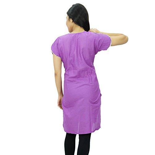 Étnica Kurti diseñador indio de Bollywood desgaste de mujeres del vestido ocasional Púrpura