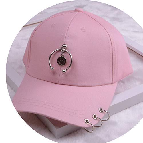 女性 リング野球帽 男性女性 白黒 野球の帽子,笑顔ピンク