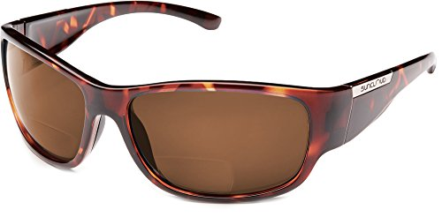 Suncloud Convoy Polarized Bi-Focal Reading Sunglasses in Tortoise w/Brown Lens +1.50 by Suncloud