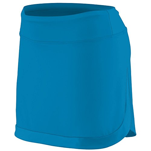 Augusta Sportswear Girls' Action Color Block Skort L Power Blue/Power (Power Tennis Skort Skirt)