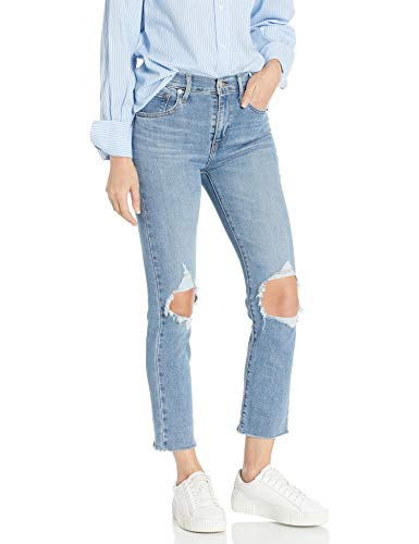 Levi's Women's 724 High Rise Straight Crop Jeans, Good Measure, 26 (US 2)
