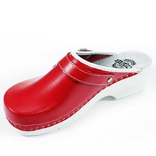 Rouge BRIL Chaussures en Dr Femme Dames B2 Cuir Sabots Chaussons nh Punto Rosso Mules UE7xgfqE
