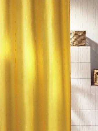 Duschvorhang Jet Gelb 180cm Breit X 200cm Lang Textil Ohne Ringe