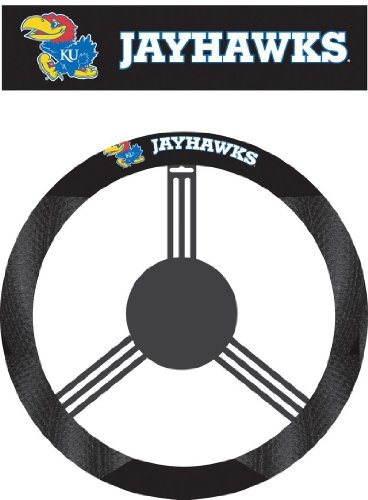 NCAA Kansas Jayhawks Poly-Suede Steering Wheel - Station Mall College