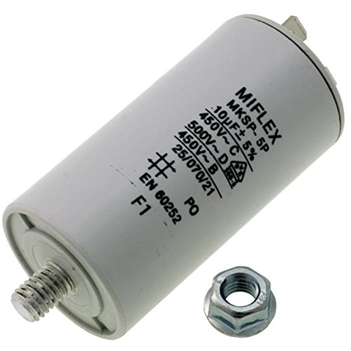 Condensateur du moteur 25/µF 450V 45x78mm C/âble M8 ; Miflex ; 25uF