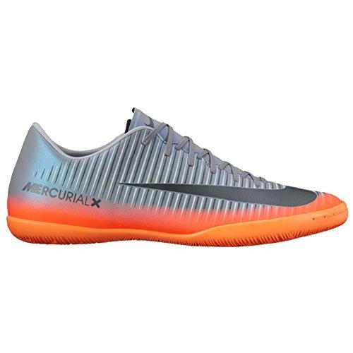 Nike 852526-376, Scarpe da Calcetto Uomo Grigio-Arancione