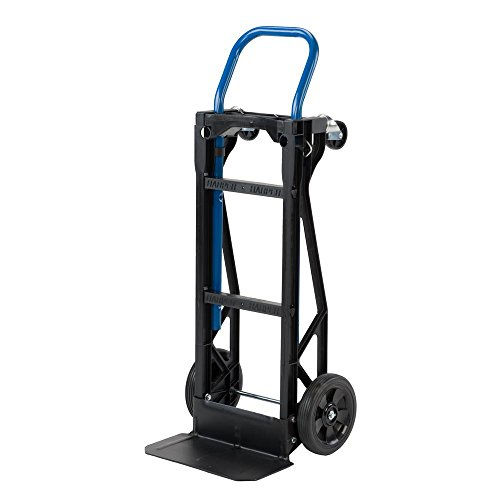 Harper Trucks Lightweight 400 lb Capacity Nylon Convertible Durable Versatile Hand Truck and Dolly Features Flexibility of Multiple Positions in a Compact, Lightweight Design