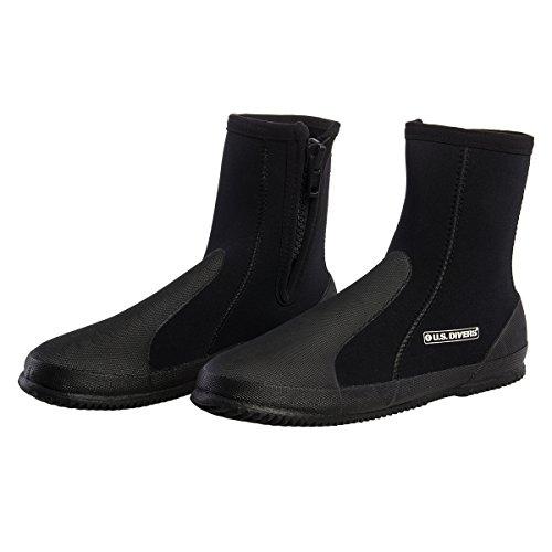 U.S. Divers Comfo High Cut 5MM Neoprene Snorkeling Diving Boots With Travel - Wetsuit High Cut
