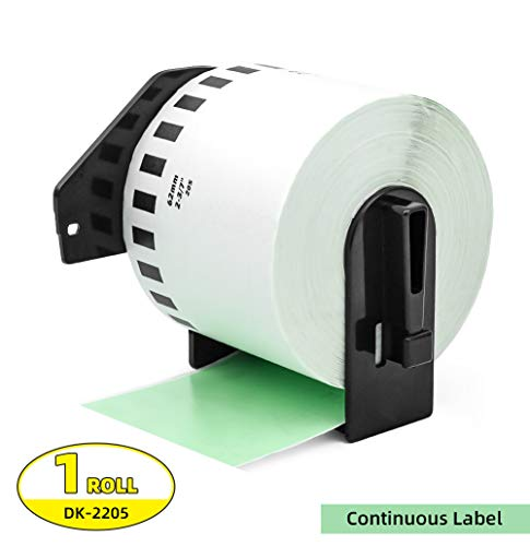 Label Orison -Compatible DK-2205 Continuous Labels Green Paper Tape 62mm x 30.48m(2-3/7