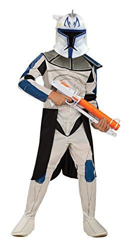 Star Wars Clone Wars Clone Troopers (Star Wars Clone Wars Clone Trooper Child's Captain Rex Costume, Large)