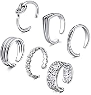 MODRSA Adjustable Toe Rings for Women Open Assorted Fingers Joint Knuckle Ring Tail Pinky Ring Toe Ring Cuff J