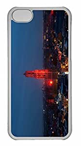 iPhone 5C Case, Personalized Custom Dom Tower At Night for iPhone 5C PC Clear Case