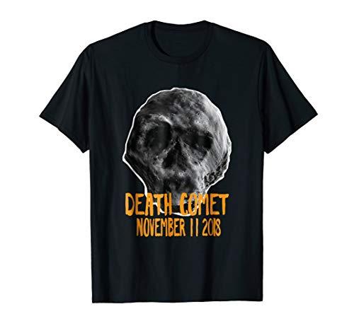Halloween Asteroid Death Comet Skull T-Shirt]()