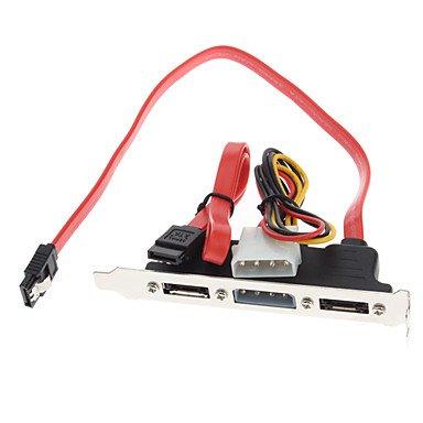 2 Ports SATA Power PCI Bracket Slot Cable 03 M Amazoncouk Electronics