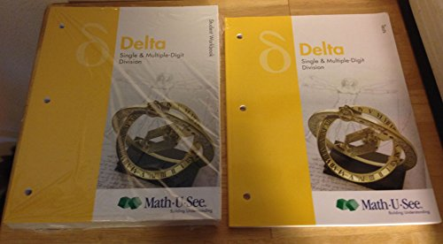 Math U See Delta Student Workbook and Test booklet