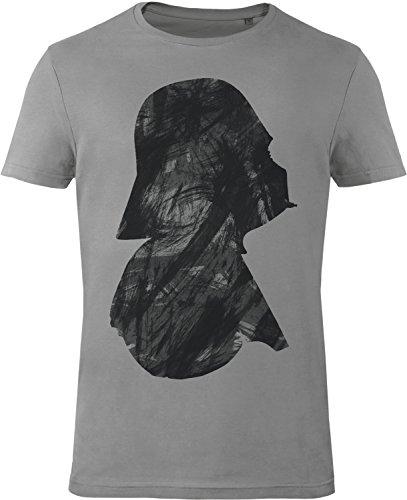GOZOO Star Wars T-Shirt Herren Vader Profile 100% Baumwolle Grau