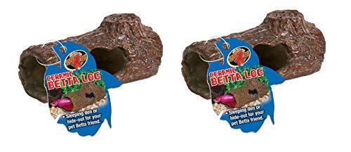 - Zoo Med Laboratories AZMFA50 Sinking Ceramic Betta Log - 2 Pack