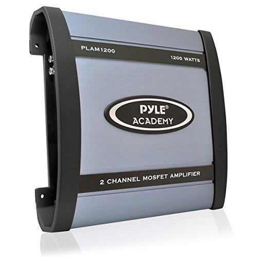 2 Channel Fan - Pyle PLAM1200 1200 Watts 2 Channel Bridgeable Amplifier