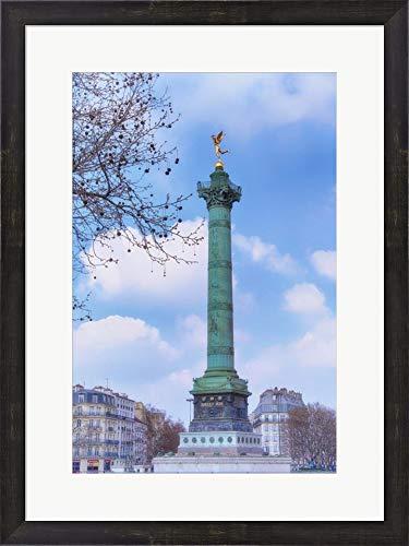La Colonne de Juillet On Place de la Bastille Cora Niele Framed Art Print Wall Picture, Espresso Brown Frame, 20 x 27 inches