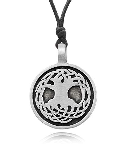 - Celtic Tree Of Life Charm Pewter Necklace Pendant Jewelry
