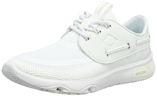 Sperry Top-Sider Sperry 7 Seas 3-Eye, Zapatillas Unisex Adulto Blanco (White)
