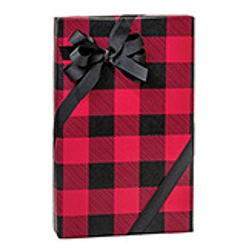 Buffalo Plaid Christmas Gift Wrap Roll - 24 Inches x 85 Feet Long (5 Rolls) by NW
