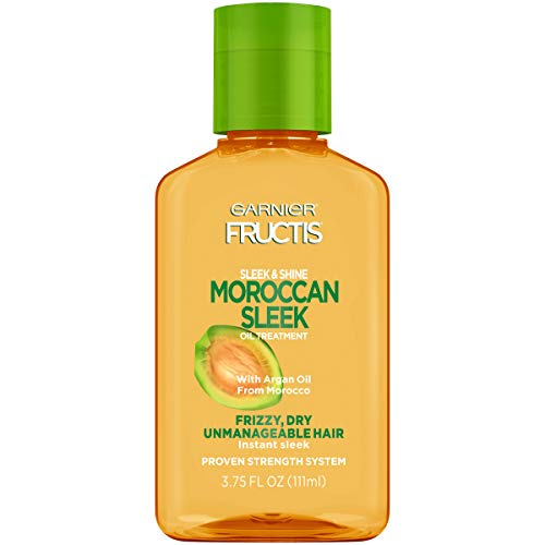 Garnier Fructis Sleek & Shine Moroccan Sleek Oil Treatment, Frizzy, Dry Hair, 3.75 Fl. Oz (Best Drugstore Anti Frizz Serum)