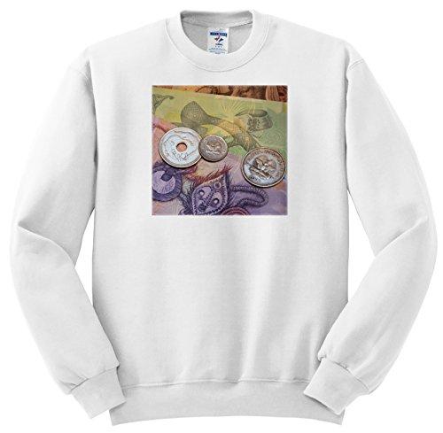 Danita Delimont - Currency - Papua New Guinea. Village of Vanimo. Colorful PNG money. - Sweatshirts - Adult SweatShirt XL (ss_228535_4)