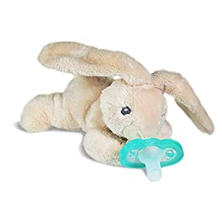 RaZbaby RaZ-Buddy JollyPop Pacifier Holder/Pacifier Removable/Bunny