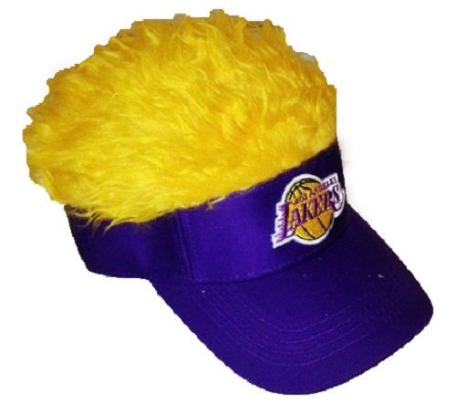 The Northwest Company NBA Los Angeles Lakers Flair Hair Visor, One Size, Yellow by The Northwest Company