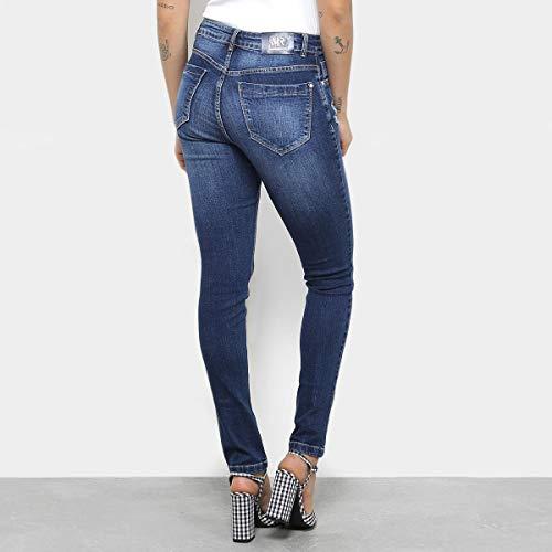 6e622ae07 Calça Jeans Skinny Morena Rosa Cintura Média Feminina - Azul - 36 ...