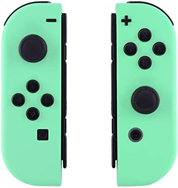 eXtremeRate Soft Touch Grip Mint Green Joycon Handheld Controller Housing with Full Set Buttons, DIY Replacement Shell Case for Nintendo Switch Joy-Con - Console Shell NOT Included