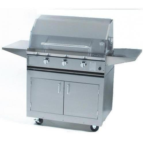 Profire Professional Series 36-inch Freestanding Infrared Hybrid Propane Gas Grill