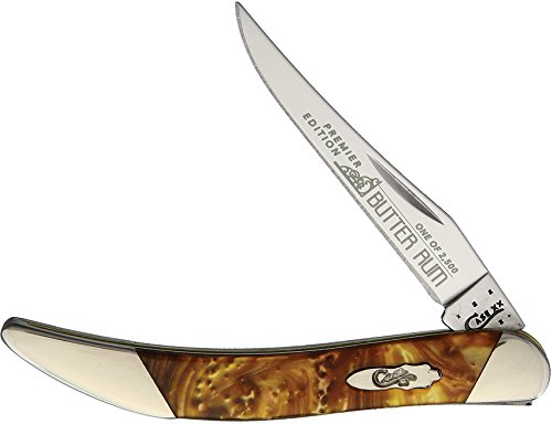 Case Cutlery S910096BR Texas Toothpick Pocket Knife, Small, Butter Rum - Butter Pick