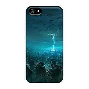 New Style CaseFactory Hard Case Cover For Iphone 5/5s- Battle Of The Immortals
