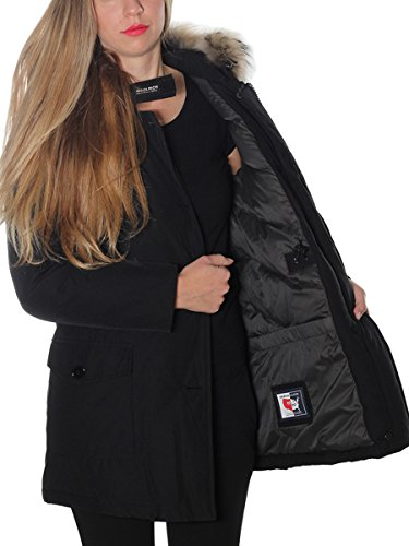 Nero Woolrich Donna Cappotto Cotone Wwcps2479cn03blk 4OFpFqBIxw