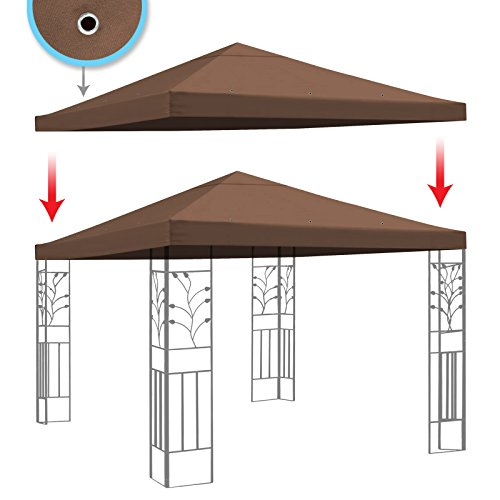 BenefitUSA Replacement Gazebo Canopy Top Patio Pavilion Cover Sunshade Polyester Single Tier, 10