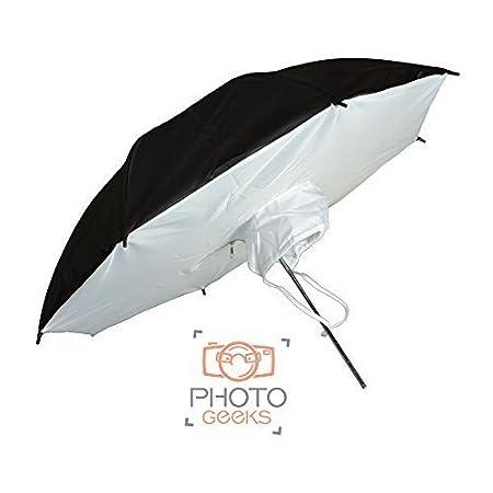 80cm, Black /& Silver Black /& Silver Photography Studio Umbrella Contrast Photo Pro Parabolic Light Reflector Diffuser for Hard Specular Light 80cm Diameter Fashion Portrait