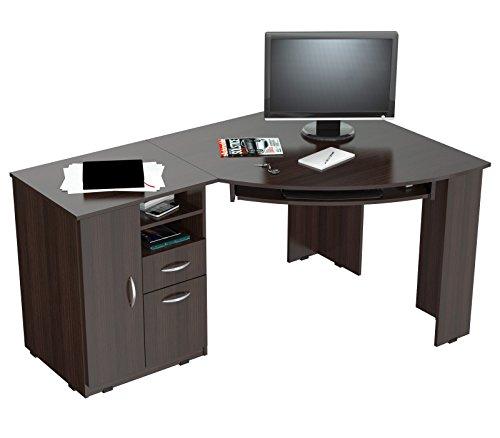 Inval America ET-3115 L-Shaped Corner Desk, Espresso