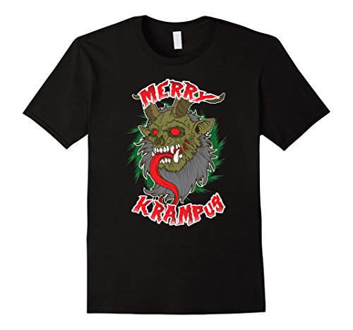 Mens Merry Krampus Halloween Costume Party Supplies Christmas 2XL Black