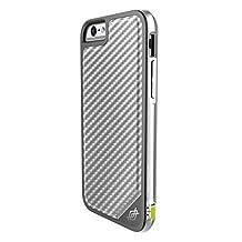 X-Doria Defense Lux Military Grade Drop Tested Protective Case for iPhone 6s Plus/6 Plus - Silver Carbon Fiber