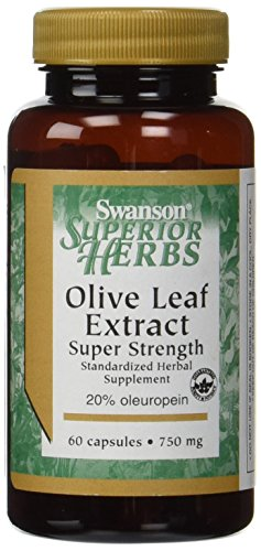 Swanson Super Strength Olive Leaf Extract 750 mg – 60 Caps (2 Pack)