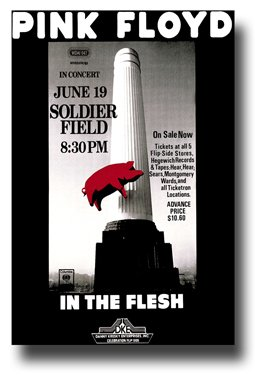 Poster Print Pink Floyd Soldier Field 1977 Concert