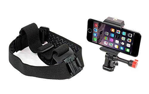 iPhone Head Mount Strap GoPro Style, Fits All Smartphones and GoPro Camera Models