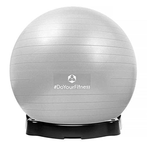 Gymnastikball »Orion« inklusive Ballschale / Robuster Sitzball und Fitnessball / 65 cm / silber inklusive Sitzschale