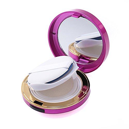 15ml 0.5oz Empty Luxurious Portable Make-up Powder Container Air Cushion Puff Case with Powder Puff and Mirror Circular Foundation BB Cream Box ( Hot Pink )