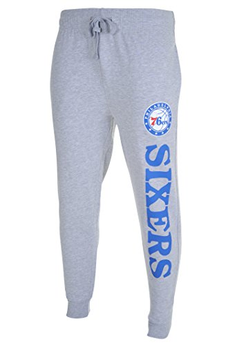 NBA Men's Philadelphia 76ers Jogger Pants Active Basic Soft Terry Sweatpants, X-Large, Gray